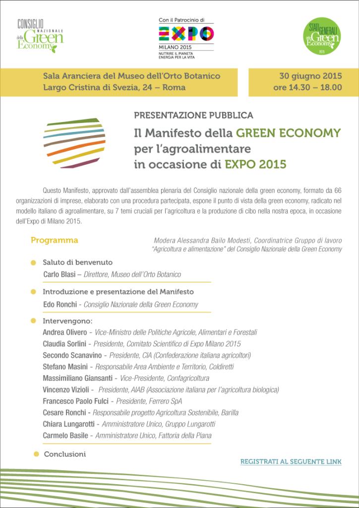 programma_Presentazione Manifesto_agroalimentare_green_economy_Expo